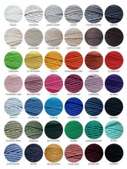 Sznurek bawełniany 5 mm paleta kolorów